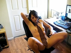 Hot tight petite girlfriend strips out be proper of her school uniform and bounces her succinct ass to her fave beat while stripping down.