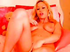 Gorgeous Golden-Haired Masturbating with a Mains Marital-Device