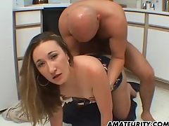 Amateur wife sucks and fucks in her Nautical galley