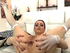 Lizaveta K. spreads her crave legs inviting powerful and experienced Omar Galantis gumshoe in her asshole