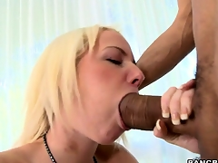 Alexia meets their way first monster black boner and takes it in their way tiny features