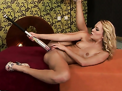 Blonde Blue Benefactor does her trounce to give herself the greatest orgasm ever