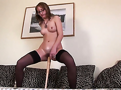 Blonde Haley keeps her trotters apart to be penetrated over and over again