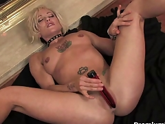 Blonde nurturer teasing and striping