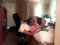Hot amateur blowjob in the hotel room
