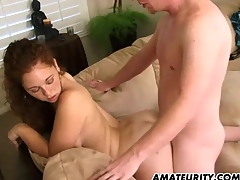 Hot dabbler girlfriend sucks and fucks on tap home