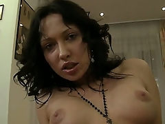 Amateur brunette Raffaella gets Rocco Siffredis dick in the adorable asshole