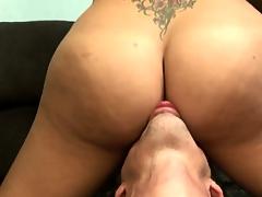 Big-tittied tranny gets her outr
