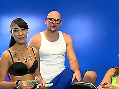 Pretty sporty fellow spends time with two contaminated chicks in this action. He seduces them to have nice banging right in a gym and girls by oneself cant resist temptation to be nailed.