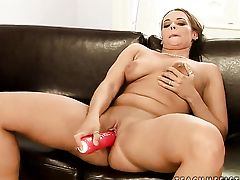Alex and Chanel open their legs legs wide for each other and have lesbian fun