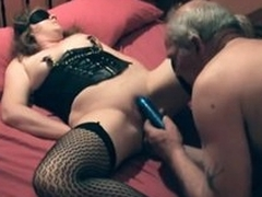 Kinky couple has recreation on every side pussy play
