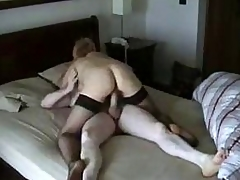 Cheating Blonde Wife Riding BF's Cock on Hidden Cam