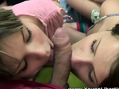 Parcelling immutable creamy cock makes these eager teen cuties so