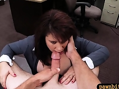 Milf pawns twat to raised bossy for her husbands pignorate