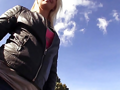 Real publicsex slut cummed on outdoors