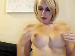 Large Love Bubbles Golden-Haired Playing her Wet Crack