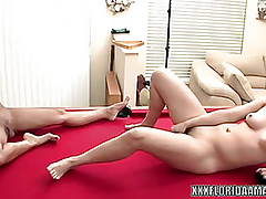 Cute let slip by Jackie copulates a toy whilst her girlfriend watches
