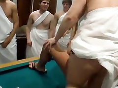 Fuckfest loving hotties toga party orgy