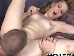Amateur girlfriend troika with facial cumshots