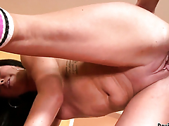Becky Brielle polishes Jack Lawrences sturdy fuck stick with her lips