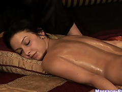 Ass and pussy massage in a bestial lesbian massage porn video