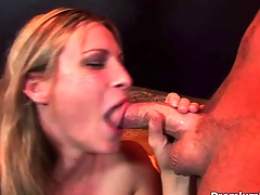 Harmony Flesh-coloured shows her oral talents