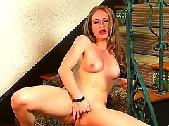 Cute girl with small boobs in the solo masturbation scene. Keira Kelly likes to be filmed being naked. She dreams to become the popular pornstar, but she isnt enough sexy and horny