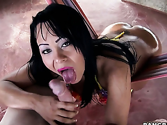 Paola about round butt groans in fucking ecstasy about horny dude