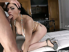 Flirtatious vixen Marta La Croft gets slam fucked in their way love chink by hot man