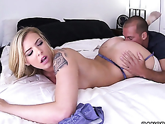 Lexi Davis gives giving oral pleasure to hot challenge