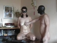 Amateur couple enjoys kinky dildo play