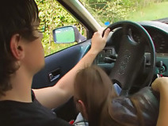 Amateur teen screwing nearby car