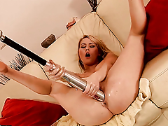 Blonde Antonya with massive tits has some dirty sex fantasies to abominate fulfilled with hot guy