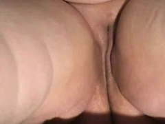 Fat shaved pussy is wet and solo