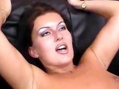 Hot gloom MILF gets four cocks to handle added to filled in on all sides be advantageous to her holes