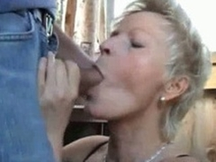 Mature unskilful wife sucks plus fucks alfresco