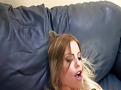 Busty Blonde Gets Cummed on her Booty