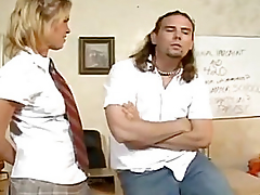 Concupiscent Schoolgirl Receives Arse Drilled