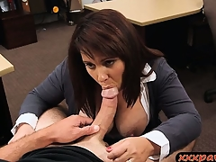 Big tits wife agreed to pawn her pussy to earn more money