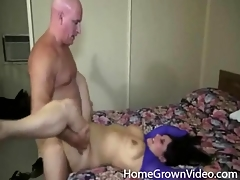 Thick amateur licked together with fucked in hotel room