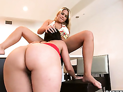 Alexis Ambience with round bottom spends time having lesbian sex with Alanah Rae
