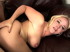 Blonde MILFs broad in the beam titties bounce as she rides him like a cowgirl