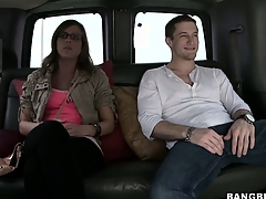 Katlyn, a sexy teen babe with a slender body, gets invited for a ride in the van