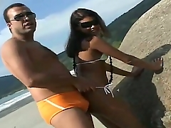 Anselmo met hot Latina, named Sara, at the padlock beach. She looks very hot and there is something in her likes that proves us that she wants to get a dick!