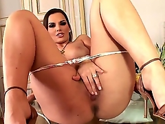 Smoking batter babe Eve Angel is showing her lovable asshole on camera, revealing also her marvelous titties and her amazing succulent pussy. Enjoy the hot video.