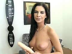 Gorgeous babe with small boobies Bambi A enjoys spending time with say no to boyfriend Rocco Siffredi, which is filming say no to solo masturbating on camera.