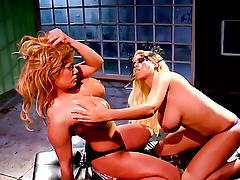 Shyla Stylez offers her pussy to lesbian Bridgette B.